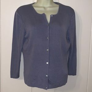 Brooks Brothers Sweaters - Brooks 346 periwinkle blue silk cardigan